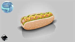 How to draw hot dog in Inkscape