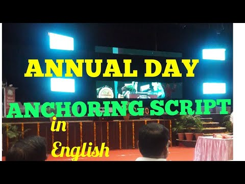 anchoring script for award ceremony