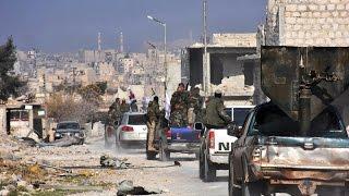 أخبار عربية - نزوح بالآلاف من شرق حلب وقوات الأسد تتوغل في حي الشيخ سعيد وسط قصف عنيف