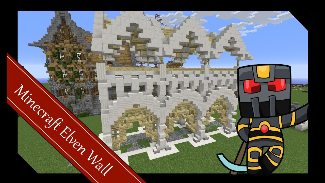 Minecraft Elven Builds - Wall Tutorial Build