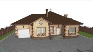 видео Проект дома с гаражом и террасой