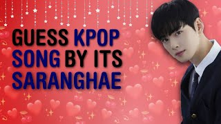 """[ VALENTINE SPECIAL!! ] COULD YOU GUESS THE 50 KPOP SONG BY ITS """"사랑해 (SARANGHAE)""""? #2  KPOP GAMES"""
