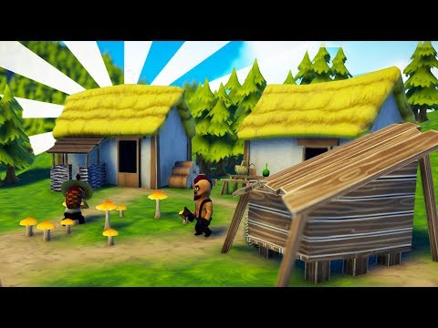 BUILDING Our MEDIEVAL ORGANIC VILLAGE! - Foundation Gameplay