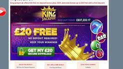 King Jackpot Bingo | £20 Free No Deposit Bonus | Free Casino