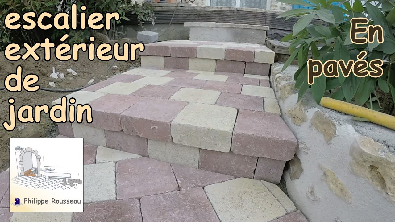 construire un escalier exterieur how to build steps with pavers in a garden 1 trailer