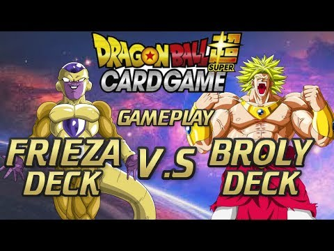 BEST BROLY VS FRIEZA BATTLE!! ( DRAGONBALL SUPER CARD GAME) GAMEPLAY