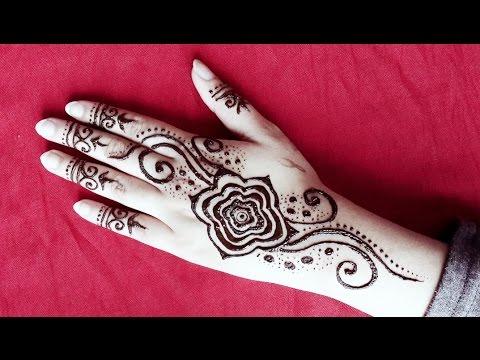 Gulf Style Henna Design Simple Rose Arabic Henna Easy Floral