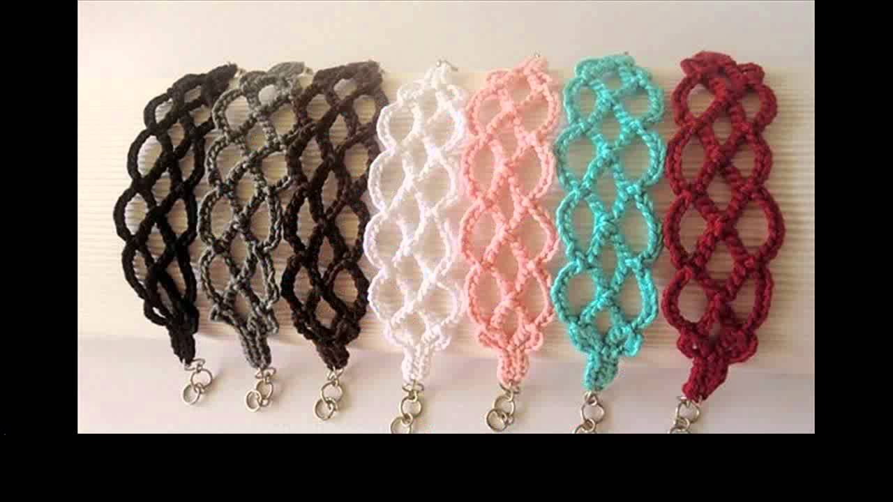 beaded crochet bracelet tutorial - YouTube