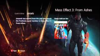 Leaked Mass Effect 3 From Ashes DLC Xbox Live Marketplace