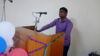 farewell speech in hindi at deparment of botany in banaras hindu university by R. gangwar
