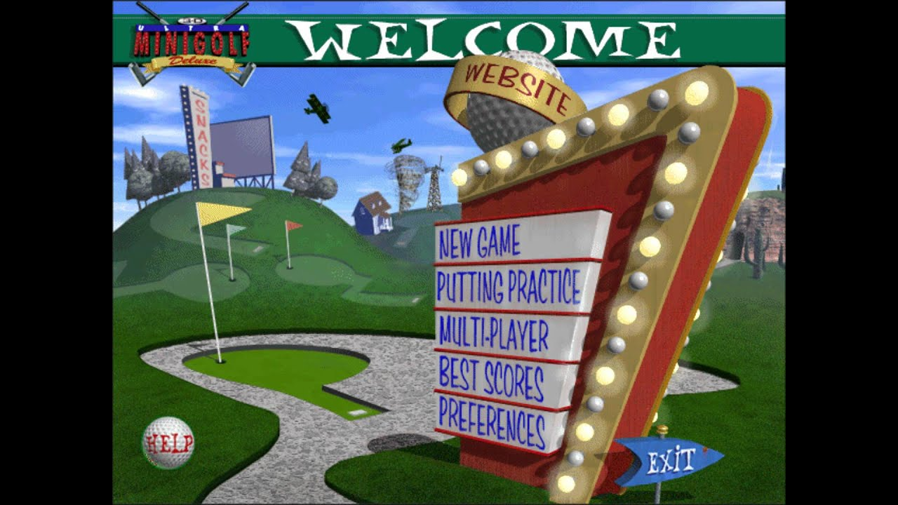 3d ultra minigolf deluxe soundtrack menu 1 youtube. Black Bedroom Furniture Sets. Home Design Ideas
