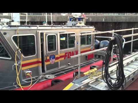 MINI WALK AROUND OF FDNY M9B UNIT AT FDNY MARINE 9 STATION ON FRONT ST. IN STAPLETON, STATEN ISLAND.