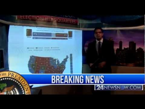 Presidential Election 2012: 24NewsNow.com Live coverage Part 1