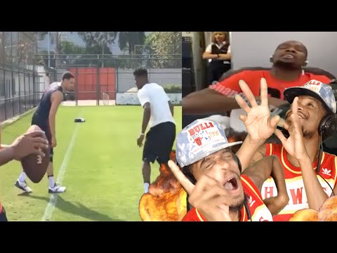 LMAO DURANT STOP SINGING! KLAY THOMPSON vs JIMMY BUTLER ON THE FOOTBALL FIELD REACTION!!