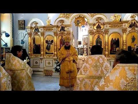 Епископ Сергий Борисоглебский и Бутурлиновский, проповедь в Спасо-Вознесенском монастыре на Елеоне.