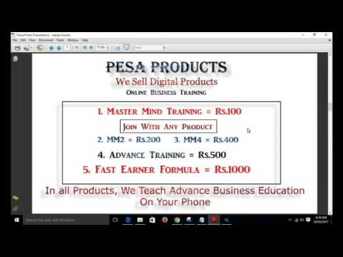 How to work in pesa marketing full presentation with payment proof hindi by aktube