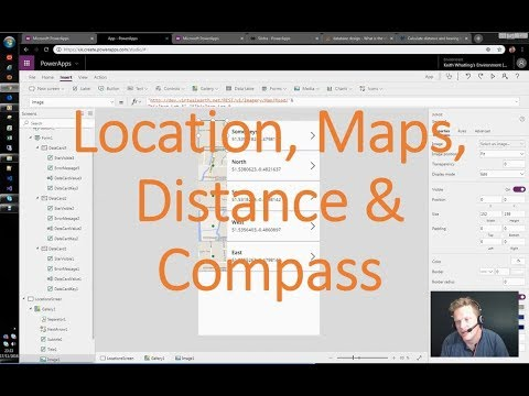 Locations, Maps, Distance and Compass Bearing in PowerApps