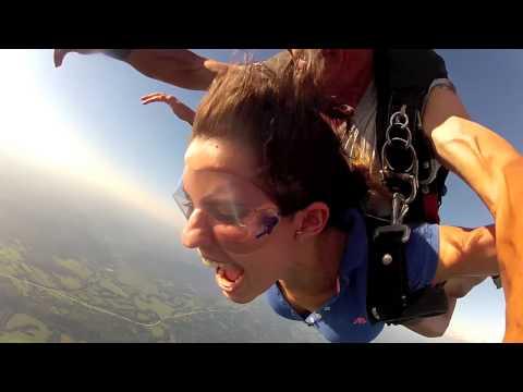 Amanda of Brazil loves to skydive!
