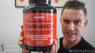 MuscleMeds Carnivor Beef Protein Isolate Powder Supplement Review - MassiveJoes.com Raw Review