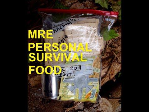 MRE-personal Meal Ready to Eat,how to make emergency crackers,τροφη επιβιωσης(subtitles-υποτιτλοι)