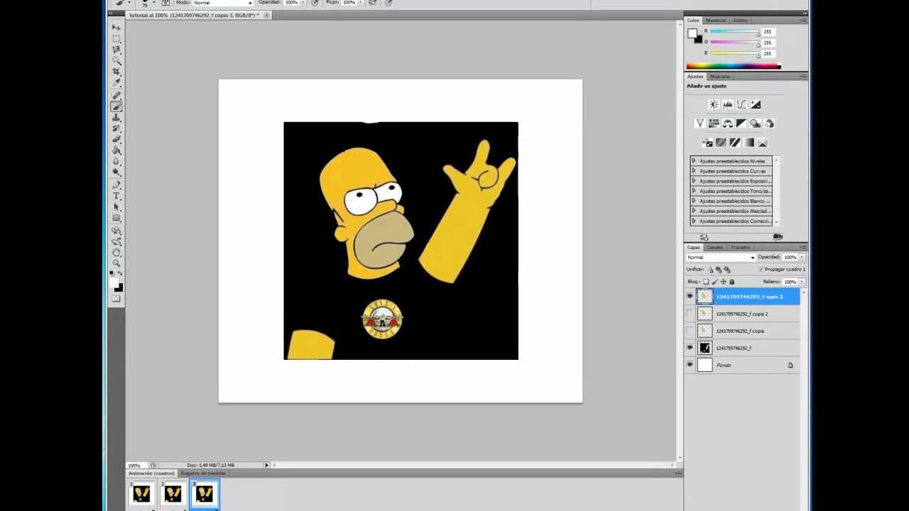 como hacer una animacion en photoshop cs5 - YouTube