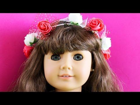How to Make an AMERICAN GIRL flower crown - Easy Doll Crafts - simplekidscrafts