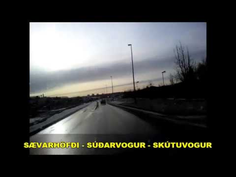 Driving through Reykjavik outskirts / Radio Retro 89.5 FM