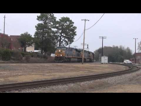 Trains at the Hub of CSX - Hamlet, North Carolina