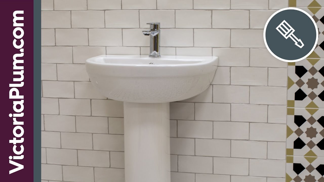 how to install a bathroom sink or basin