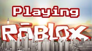 Jogando Roblox pela primeira vez no meu canal