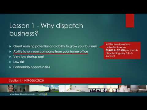 Lesson 1 - Why dispatch business?