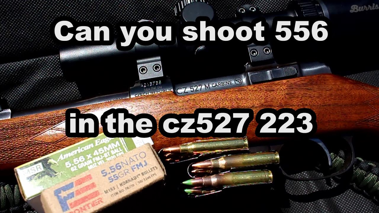Can you shoot 556 in the CZ527 223