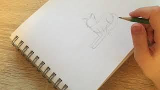 Урок 3|как нарисовать кота в лежачей позе (рисуем Ангелину)