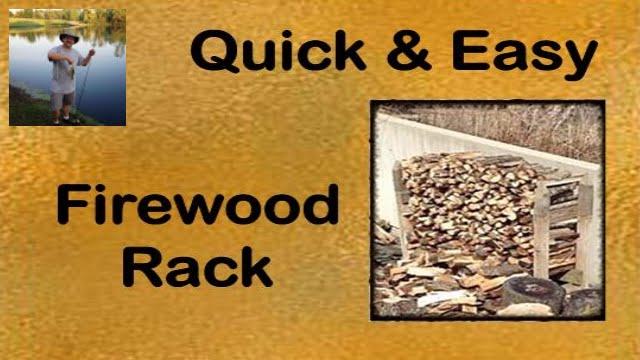 Build It Yourself!- Easy Firewood Rack - YouTube