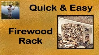 Build It Yourself!- Easy Firewood Rack