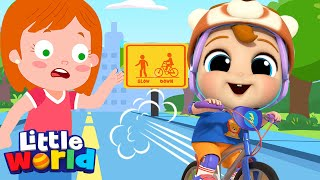 Be Safe on The Street | A Safety Song | Little Angel Kids Songs