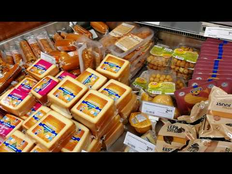 Товары из Эстонии. Что купить в Нарве. Январь 2017. Цены на еду. Мужик с тележкой часть 2.
