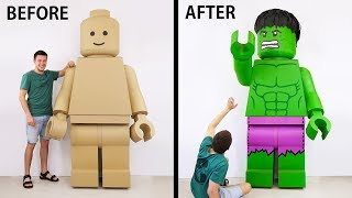 Transformation of a GIANT Lego Man into an Insane HULK thumbnail