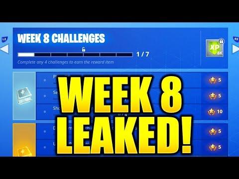 FORTNITE SEASON 7 WEEK 8 CHALLENGES LEAKED! WEEK 8 ALL CHALLENGES EASY GUIDE SEASON 7 CHALLENGES!