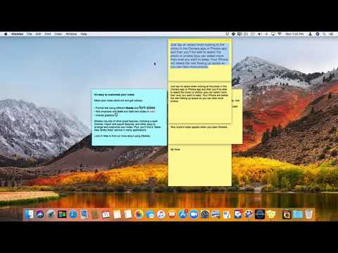 Stickies On The Mac: Formatting Text In A Note