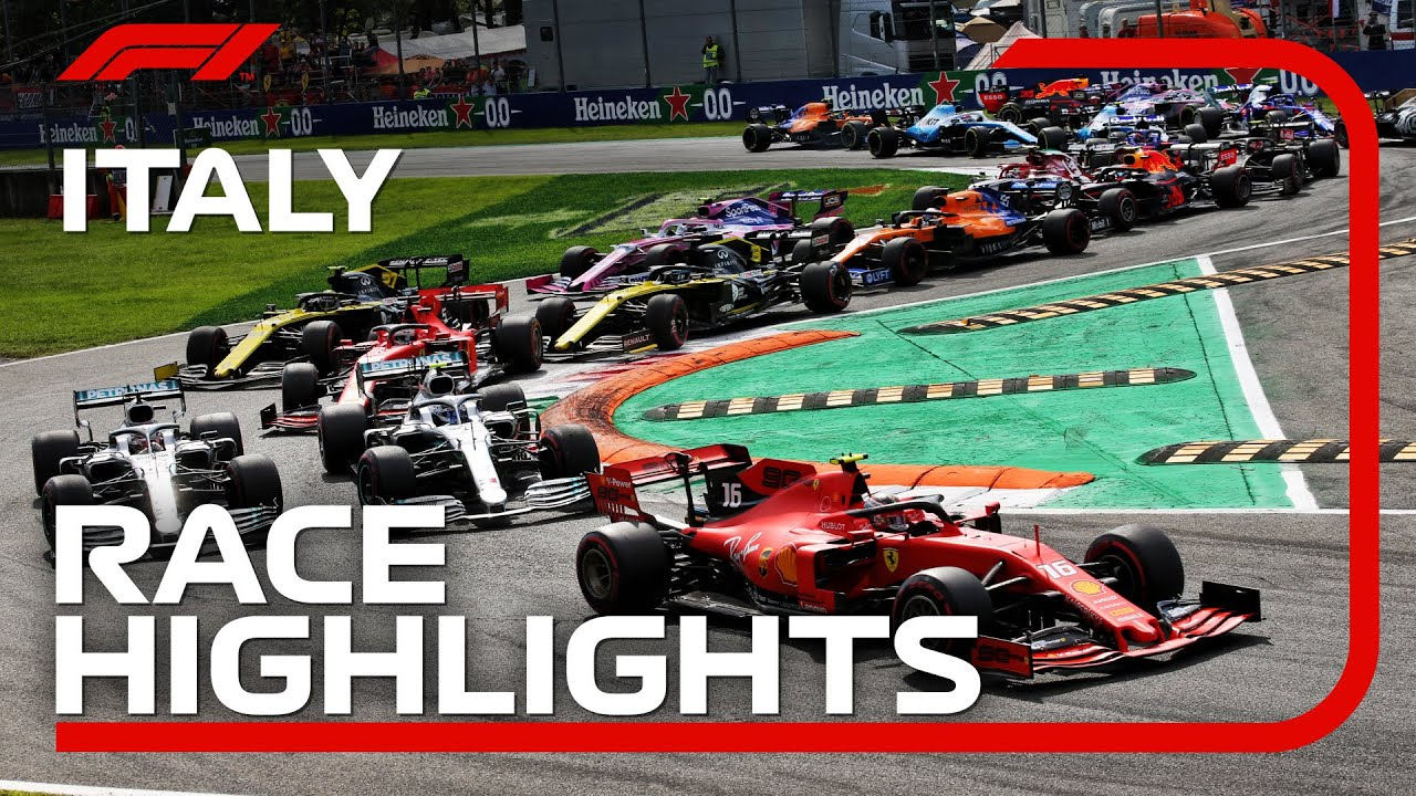 2019 Italian Grand Prix Race Highlights Youtube