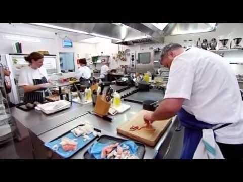 Angela Hartlett and Richard Corrigan main dish | Great British Waste Menu
