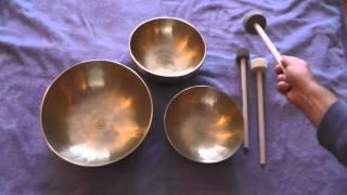 Klangschalen Set 40 von Peter Hess Therapie Klangschalen