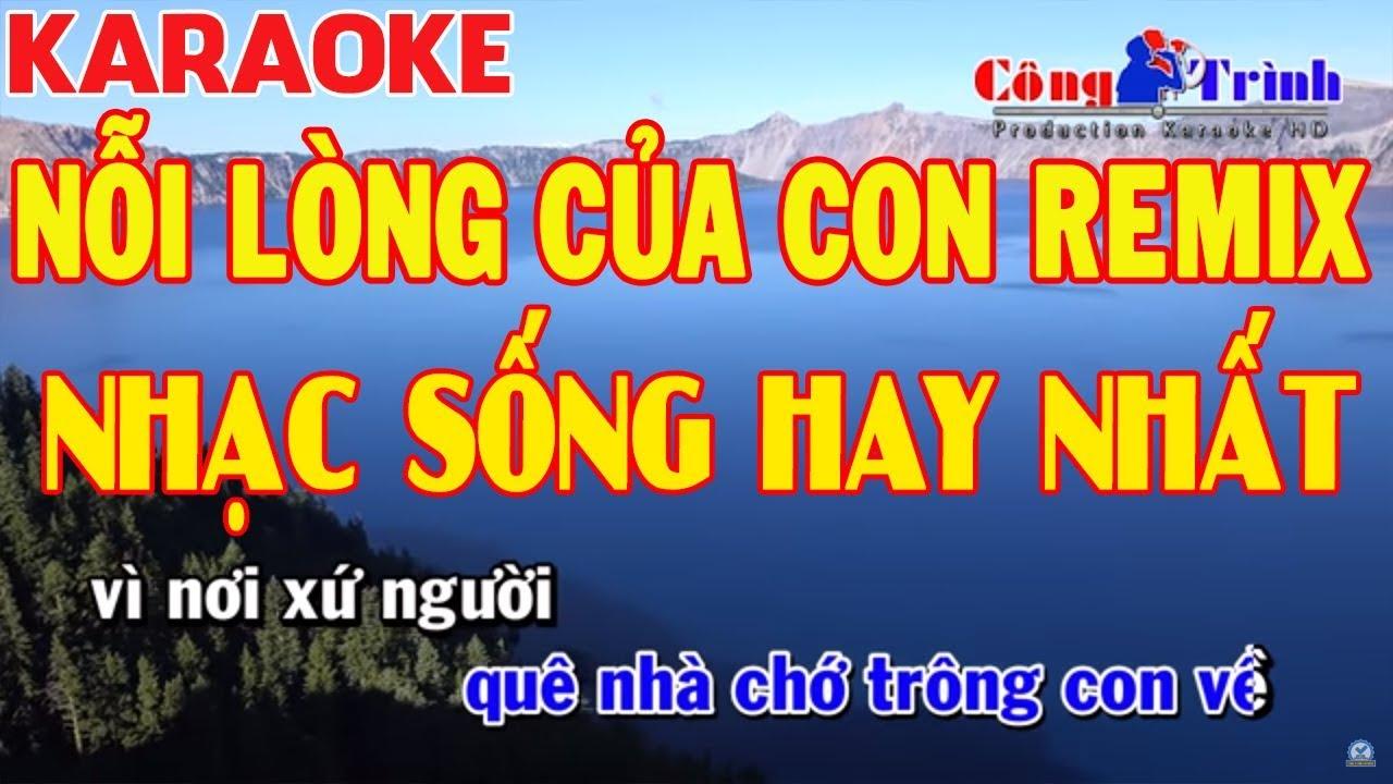 Karaoke | Nỗi Lòng Của Con Remix | Full Beat | Nhạc Sống Công Trình | Keyboard Trường Giang