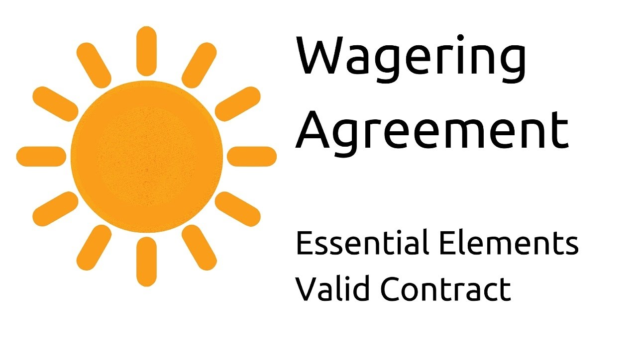What Is Wagering Agreement | Other Essential Elements Of A Valid Contract |  CA CPT | CS U0026 CMA