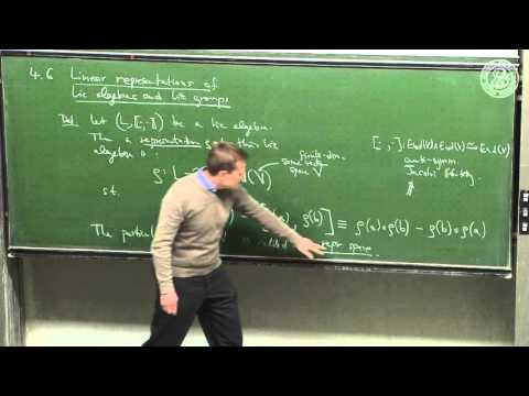 Representation theory of Lie groups and Lie algebras - Lec 17 - Frederic Schuller