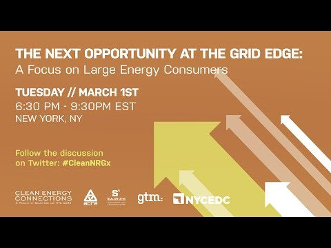 The Next Opportunity at the Grid Edge: A Focus on Large Ener