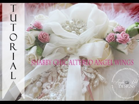 shabby chic angel wings tutorial for sale youtube rh youtube com how to make shabby chic angel wings how to make shabby chic angel wings