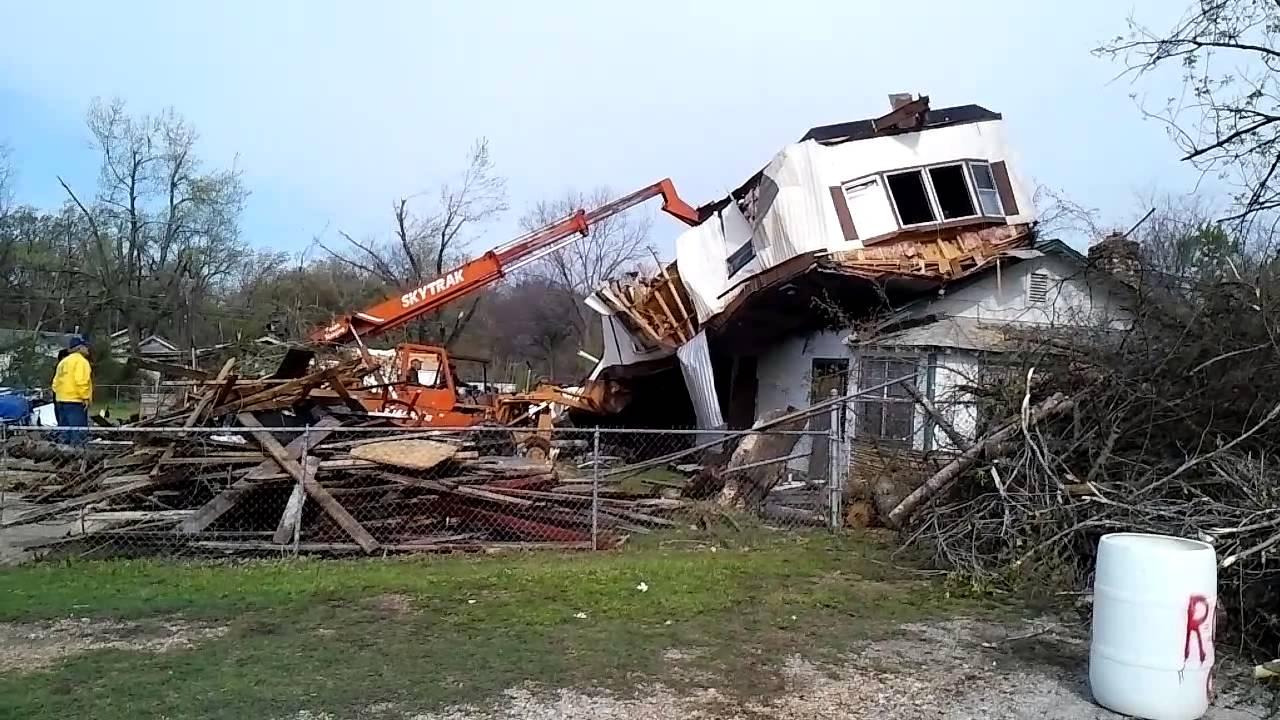 Removal of mobile home Spavinaw, OK. Tornado 4/18/ - YouTube