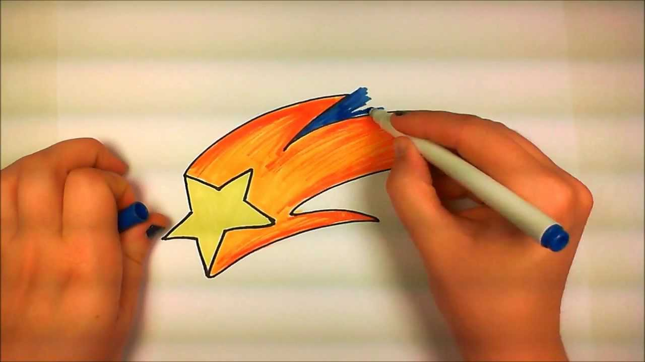 Learn How To Draw An Easy Shooting Star -- ICanHazDraw